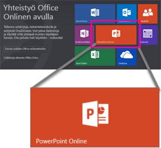 Valitse PowerPoint Online