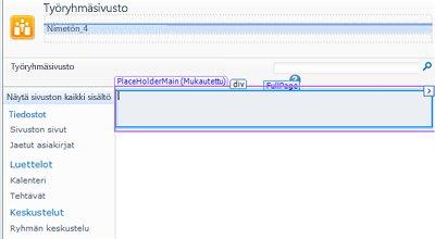 Sivujen lisääminen SharePoint Designer 2010:een