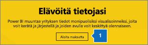 Hanki Power BI valitsemalla Aloita maksutta