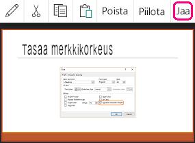PowerPoint for Androidin Jaa-komento