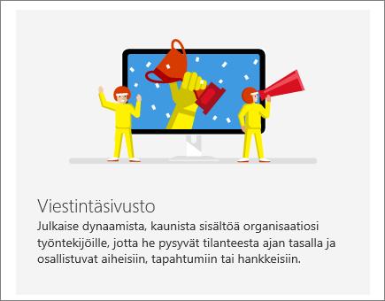 SharePoint Office 365 -viestintäsivusto
