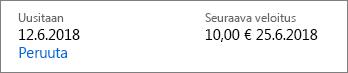 Office 365 Home-tilauksen peruutuslinkki.