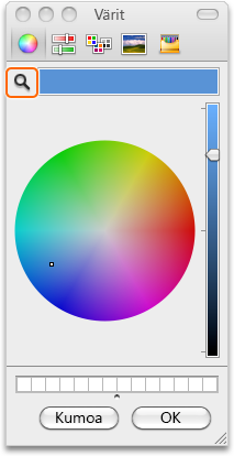 Värit-valintaikkuna