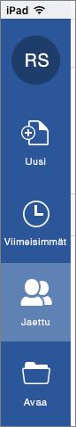 iOS:n Jaettu kanssani -painike