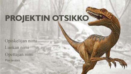 Käsitekuva 3D-dinosaurusraportista