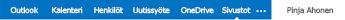 SharePoint-sivusto mobiililaitteen PC-näkymässä