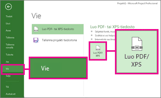 PDF- tai XPS-painikkeen kuvan luominen