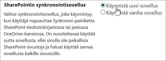OneDrive-synkronointisovelluksen järjestelmänvalvojan asetukset