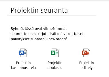 Sivulle upotetut tiedostot OneNote for Windows 10:ssä