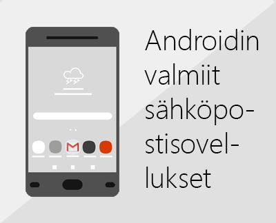 Jonkin Androidin sisäisen sähköpostisovelluksen määrittäminen napsauttamalla