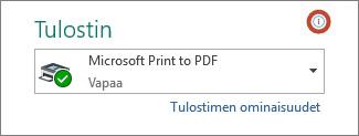 Tulostimen tietokuvake