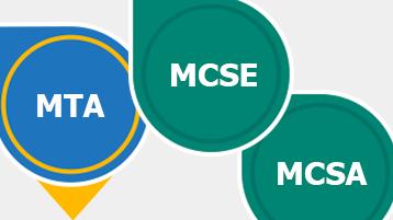 Microsoftin oppimissertifioinnit: MTA, MCSE, MCSA