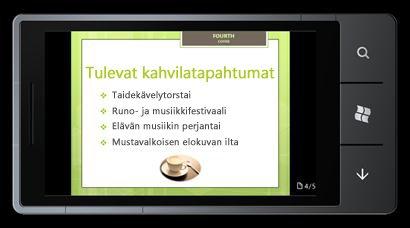 PowerPoint Mobile 2010 for Windows Phone 7: muokkaaminen ja katselu puhelimessa