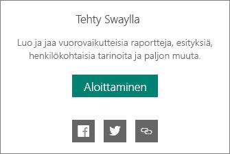Luotu Swaylla -merkintä
