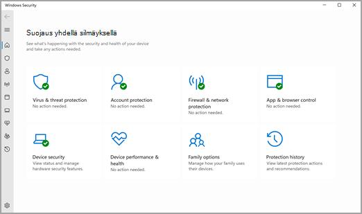 Windowsin suojaus -sovellus Windows 11:ssä