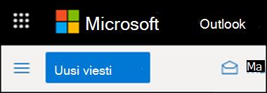 Outlookin verkkoversion valintanauhan ulkoasu