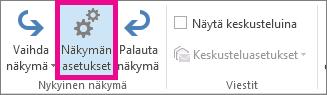 Valitse Näytä-välilehden Näkymän asetukset.