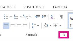 Voit avata Kappale-valintaikkunan valitsemalla Laajenna-kuvakkeen.