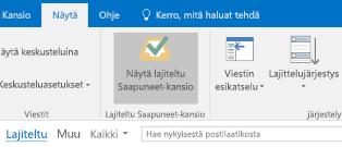 Outlookin Lajiteltu Saapuneet-kansio -ominaisuus
