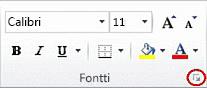 Fontti-ryhmän valintaikkunan avain