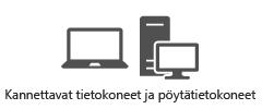 Kannettavat tietokoneet ja pöytäkoneet