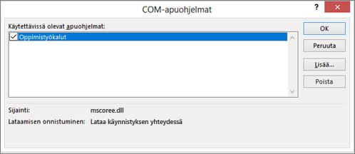 Hallinta: COM-apuohjelmat