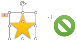 Dian animaatiot numeroidaan sen mukaan, missä järjestyksessä ne näytetään.