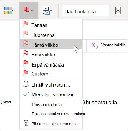 Viestin merkitseminen seurantaa varten Outlookissa