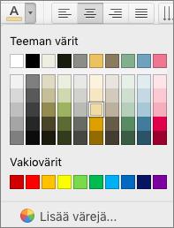 Fontin värin valitseminen