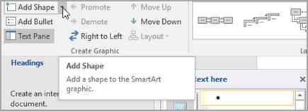 Muodon lisääminen SmartArt-grafiikkaan