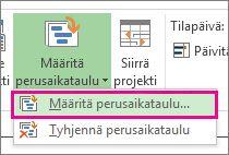 Projektin perusaikataulun määrittäminen