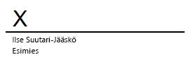 Wordin allekirjoitusrivi, jonka vieressä on X osoittamassa allekirjoituksen kirjoituskohtaa