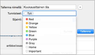 Määritä sähköpostimallille nimi, tunniste ja tallennussijainti
