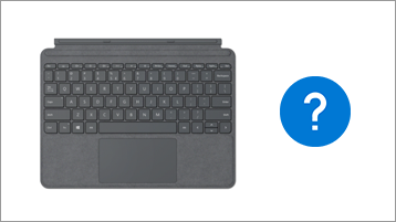 Surface Type Cover -näppäimistö ja kysymysmerkki