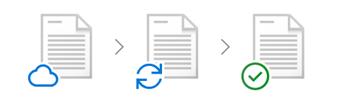 Käsitekuva Files On Demand -ominaisuudesta