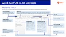 Word 2010:stä Office 365:een siirtymistä koskevan oppaan pikkukuva