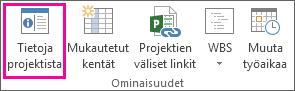 Projekti-välilehden Projektin tiedot