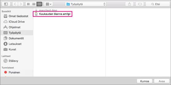Valitse sähköpostimalli, jota haluat käyttää