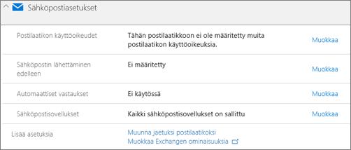Näyttökuva: käyttäjän postilaatikon muuntaminen jaetuksi postilaatikoksi