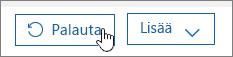 Palauta käyttäjä Office 365:ssä.