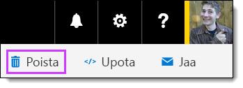Office 365 Videon Poista video -vaihtoehto