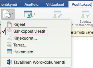 sähköpostin yhdistäminen