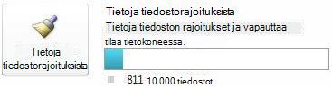 SharePoint Workspacen tiedostomittari silloin, kun käytössä on alle 7500 asiakirjaa