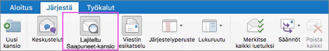 Lajiteltu Saapuneet-kansio pitää sähköpostisi siistinä.