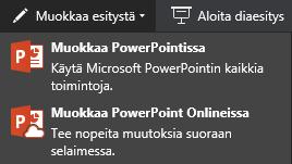 Muokkaa PowerPoint Onlinessa