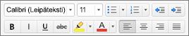 Muotoilupainikkeet Outlook for Macissa