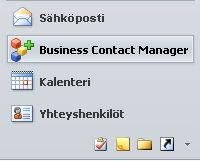 siirtymisruudun business contact manager -painike