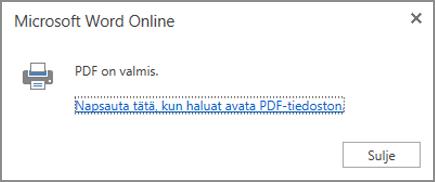 Katso PDF napsauttamalla