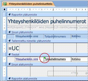 Raportti, jonka tekstiruutu sisältää väärin kirjoitetun tunnisteen