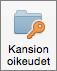 Outlook 2016 for Macin Kansioiden käyttöoikeudet -painike